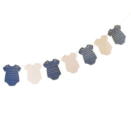 Pink, Blue & Gold Baby Grow Baby Shower Bunting / Garland